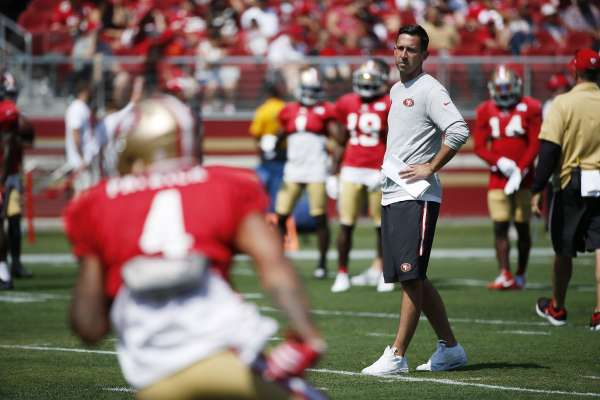 San Francisco 49ers head coach Kyle Shanahan